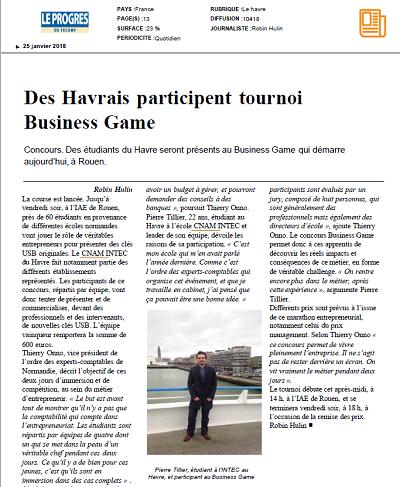 Des Havrais participent au tournoi Business Game