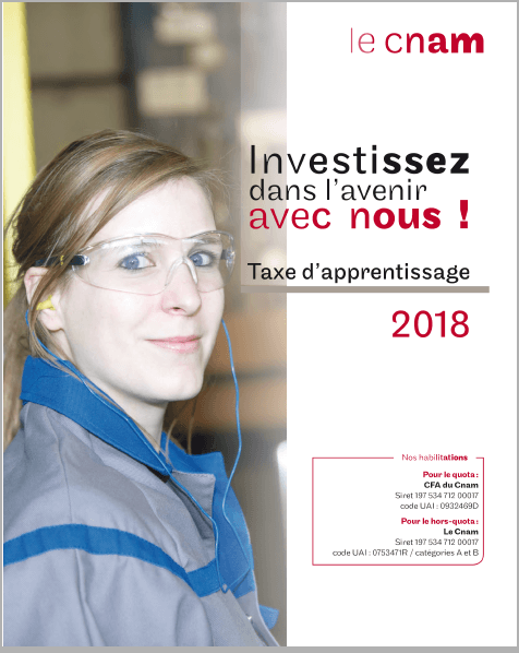 Taxe d'apprentissage 2018 : Investissez dans l'avenir avec nous